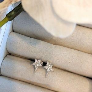 Jewelry - Silver Stars with Diamonds